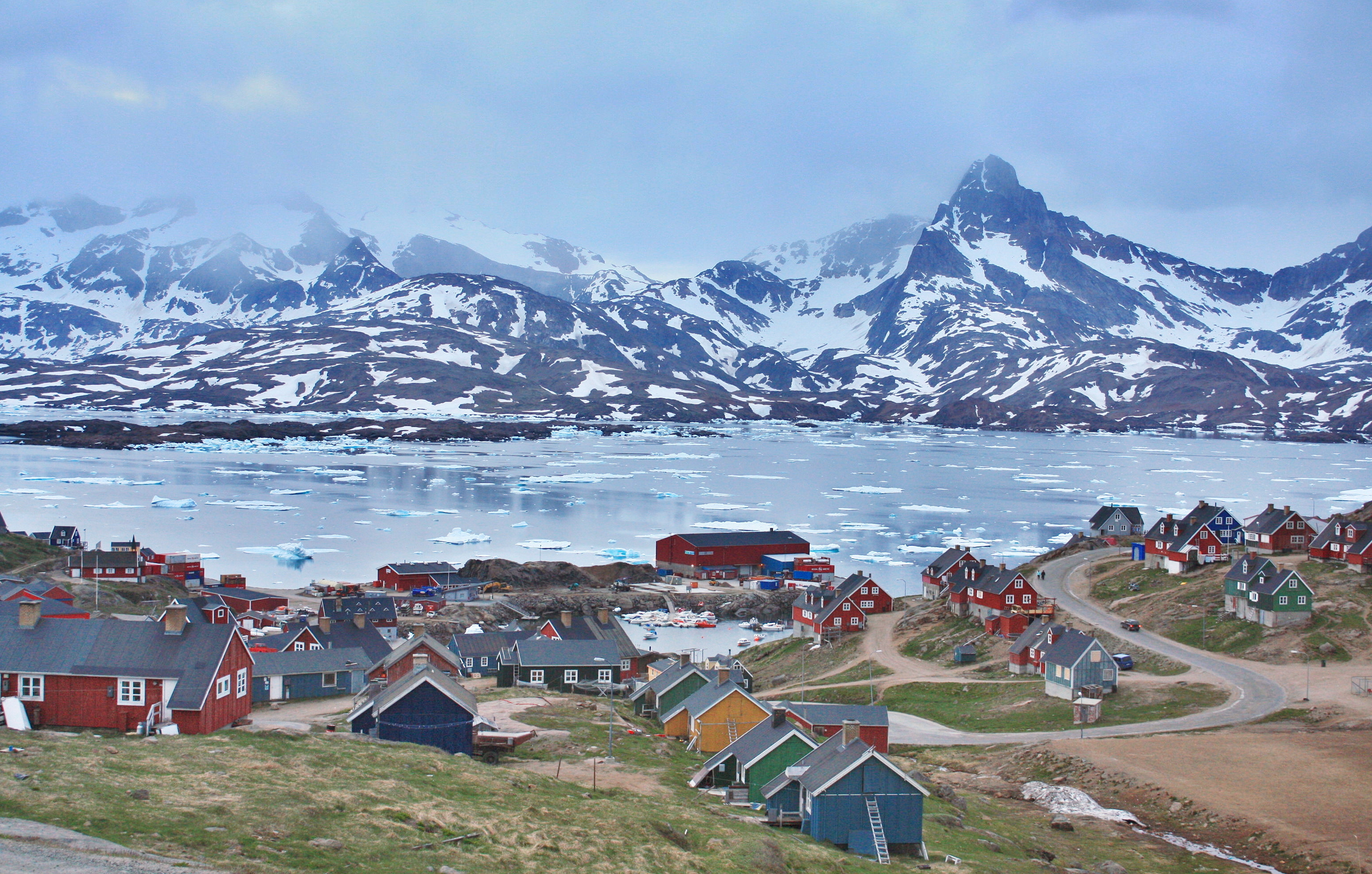 A small village in Greenland