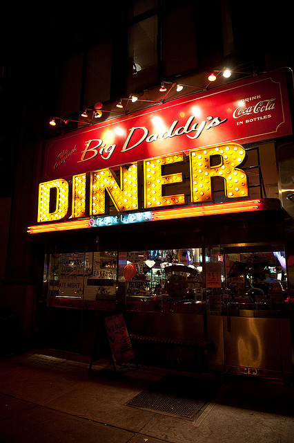 Going to a late night diner like Big Daddy's in NYC is why this city ranks among the best American downtowns after dark!
