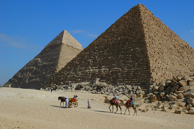 One of the top tourist attractions in Egypt are the Pyramids of Giza...