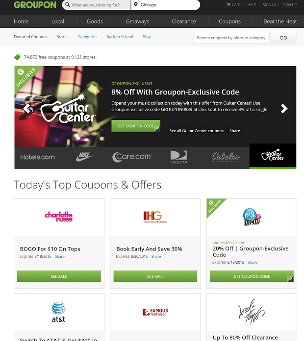 Groupon Coupons for the traveling tortuga